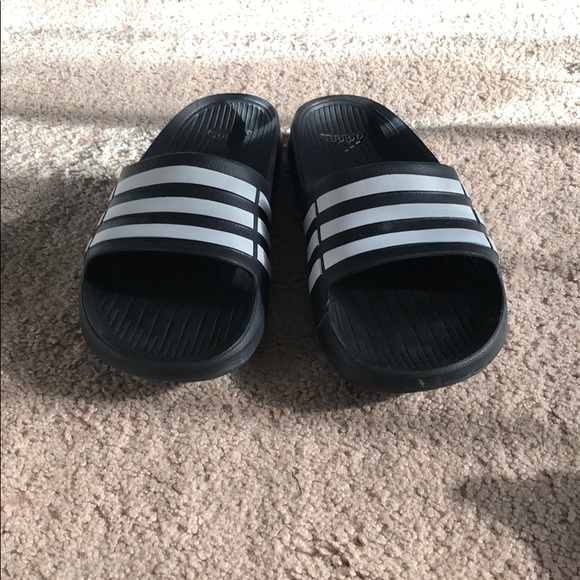 bea9bb511 adidas Other - Adidas three stripes slides
